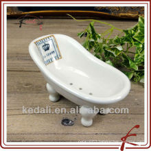 White Glaze Ceramic classic bath tub soap dish